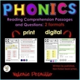 Distance Learning, PHONICS Reading Passages & Questions, P