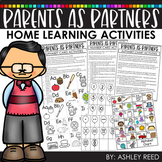 Distance Learning - Parent Resource Packets for Preschool