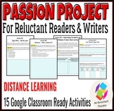 Distance Learning Passion Project for Reluctant Readers an