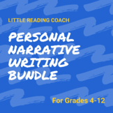 Distance Learning Personal Narrative Writing Bundle