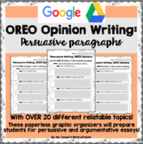 Distance Learning: Persuasive Paragraph Graphic Organizers (OREO Strategy)