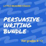 Distance Learning Persuasive Writing Bundle