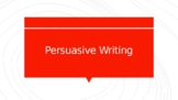 Distance Learning Persuasive Writing PowerPoint Presentation