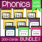 Sight Words in Sentences | Blending CVC Words | Boom Cards with Audio BUNDLE