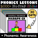 Distance Learning Phonics & Phonemic Awareness MEGA-BUNDLE K - 2