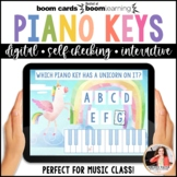 Distance Learning Piano BOOM Cards: White Piano Keys