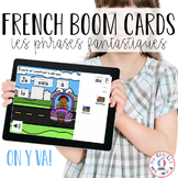 Distance Learning- Places Predictable Sentences French BOOM Cards (les endroits)