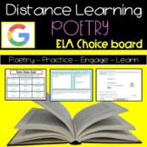 Distance Learning Poetry Choice Board   ELA High School