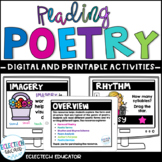 Distance Learning l Poetry Google Slides