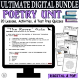 Distance Learning Poetry Unit ULTIMATE BUNDLE 20 Lessons Reading Comprehension