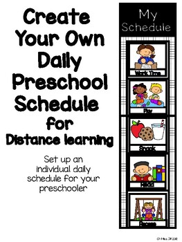 Distance Learning Preschool Daily Schedule