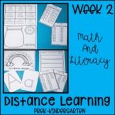 Distance Learning Week 2 Preschool- Kindergarten Literacy