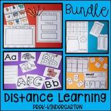 Distance Learning Printables Bundle : Weeks 1-4