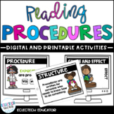 Distance Learning | Procedures Digital Reading Activities