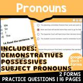 Distance Learning Pronouns: Parts of Speech Review {Set 3/4} Test Prep (Digital)