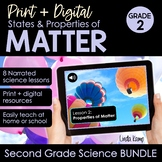 Distance Learning Properties of Matter 2nd Grade Science P