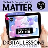 Properties of Matter 2nd Grade Digital Science Activities