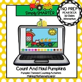 Distance Learning Pumpkin Themed Counting Within Ten Pear Deck Activities