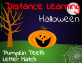 Distance Learning Pumpkin teeth Capital and Lowercase Letter Match