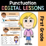 Distance Learning Punctuation 1st Grade Interactive Google Slides