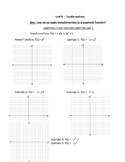 Distance Learning - Quadratic Transformations Notes