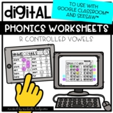 Distance Learning R Controlled Vowels Worksheets for Googl