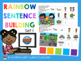 Distance Learning Rainbow Sentence Building Boom Cards