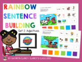 Distance Learning Rainbow Sentence Building Boom Cards Part 2