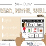 Distance Learning- Read, Rhyme, Spell- Short A