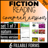 Distance Learning Reading Comprehension: Nature {Fiction Set 1/7} (FORMS)