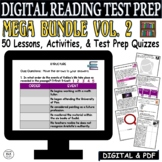 Distance Learning Reading Comprehension Passages and Questions BUNDLE 50 Lessons