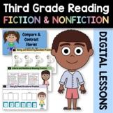 Distance Learning Reading Literature 3rd Grade Bundle Goog