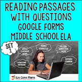 Distance Learning Reading Passages with Questions - Google Forms
