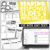 Distance Learning Reading Response Slides | Printables