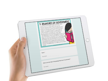 Distance Learning Reading Review Activities for Google Classroom 3rd & 4th Grade