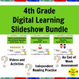 Distance Learning 4th Grade Reading Standards-Based Slideshows Bundle