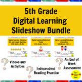Distance Learning 5th Grade Reading Standards-Based Slides