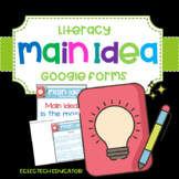 Distance Learning  |  Reading for Main Idea  |  Google Forms