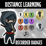 Distance Learning Recorder Karate Belts - Digital Badges