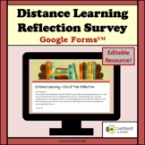 Distance Learning Reflection Survey (Editable Resource)