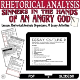 Distance Learning Rhetorical Analysis Sinners in the Hands of an Angry God