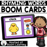 Distance Learning-  Rhyming Picture Match Boom Cards Deck
