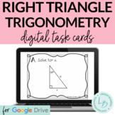 Right Triangle Trigonometry Digital Task Cards