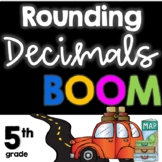 Distance Learning:  Rounding Decimals BOOM Cards