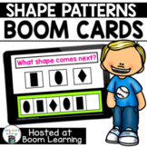 Distance Learning- SHAPE PATTERNS Boom Cards Boom Deck