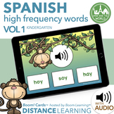 Distance Learning SPANISH Kindergarten High Frequency Word
