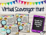 Distance Learning Scavenger Hunt Zoom EDITABLE Back to School