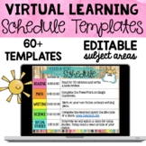 Distance Learning Schedule Templates | Easy to Use!
