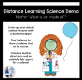Distance Learning Science Demo: What is air made of?