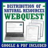 Distribution of Natural Resources Activity Webquest